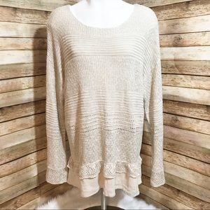 Knox Rose cream crochet light sweater